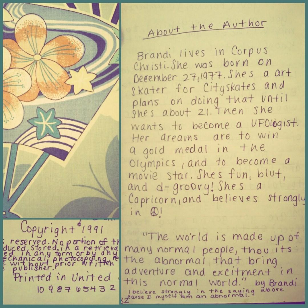 Brandi Amara Skyy First book in 4th grade book