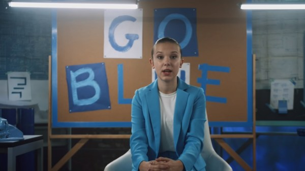 Millie Bobby Brown Goes Blue to Support Kids in Need