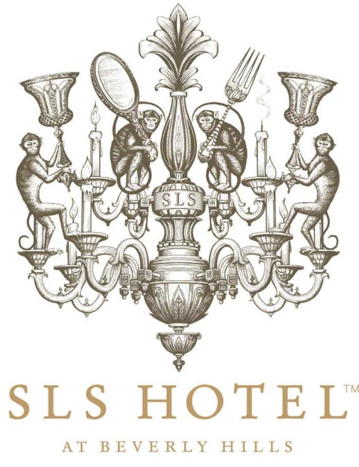 """""""SLS Hotel"""" logo identity at Beverly Hills 03"""