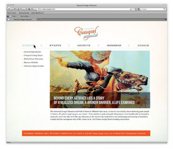 National Cowgirl Hall of Fame brand Identity 08