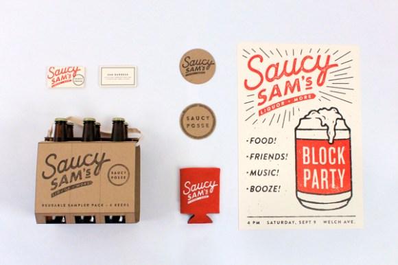 Saucy Sam's brand design 01
