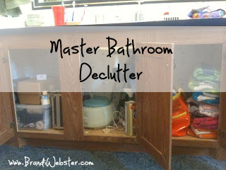Master Bathroom Decluttter