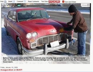 Checker Cab Article Detroit News