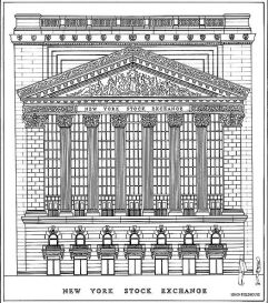 NYSE sketch by Simon Fieldhouse