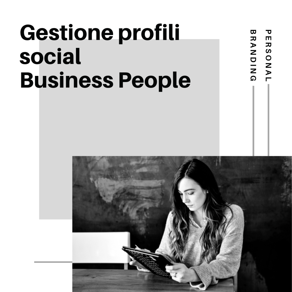 Gestione profili social​ per business people