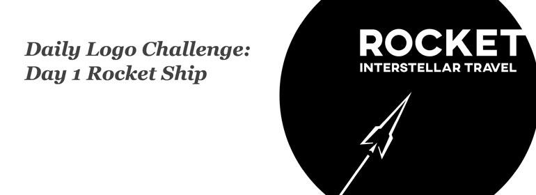 Daily Logo Challenge: Day 1 Rocket Ship
