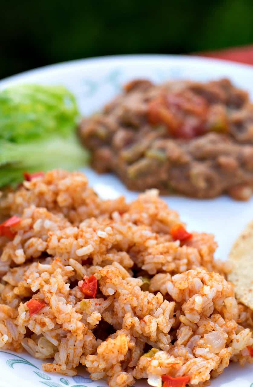 Spanish Rice Food Label