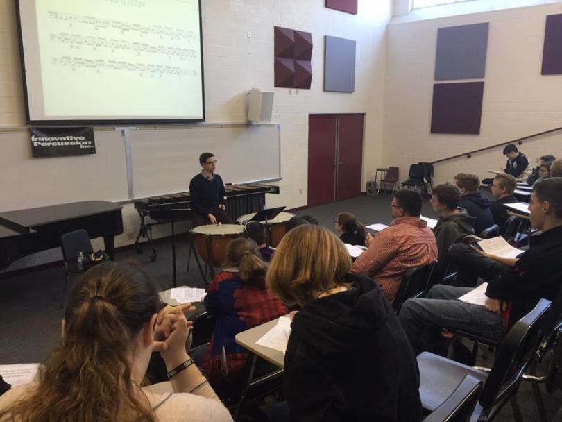 Timpani Tricks & Tips Clinic at the 2016 Campbellsville University Percussion Ensemble Festival