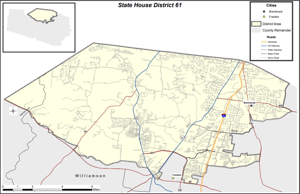 Tennessee State House District 61 Map