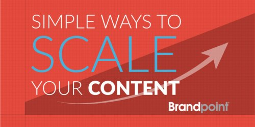 Simple Ways to Scale Your Content