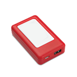 Portable mobile charger 1600 mAh, red color