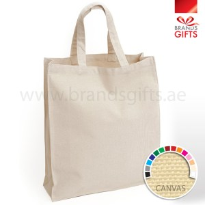 Canvas Tote Cotton Bags - Shopping and Travel Bags - Finely Stitched Grocery Bags www.brandsgifts.ae
