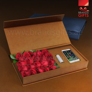 Luxury Flower Custom Luxury Arabic Gifts box Promotional Corporate Gifts With Custom PU Leather Box www.brandsgifts.ae