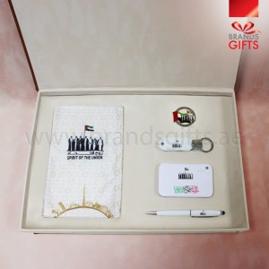 UAE National Day Gift Set Box, Custom Corporate Gifts, National Day Giveaways , Promotional Gift Items with Luxury Leather Velvet box, www.brandsgifts.ae