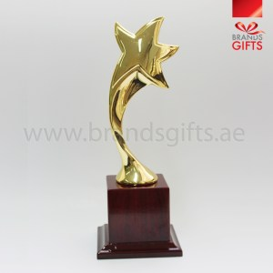 Star Trophy Award. Custom Printed With Your Design, Trophies Abu Dhabi, Dubai, Sharjah, UAE Supplier, trophy shop www.brandsgifts.aewww.brandsgifts.ae