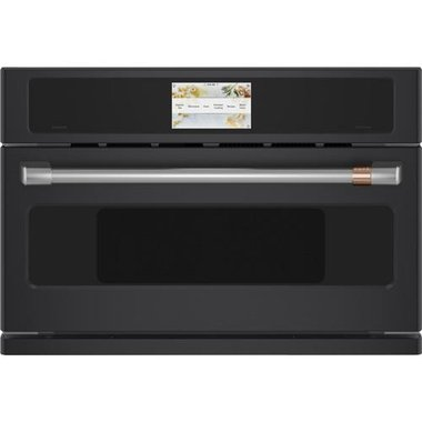1 7 cuft smart 950 watt five in one built in microwave oven in matte black with 240v advantium technology