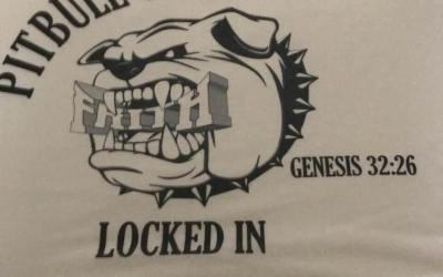 Pitbull on Faith- Locked In T-Shirt Design