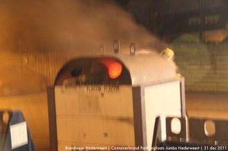 Containerbrand Parkeerplaats Jumbo Nederweert 1