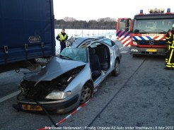 Ongeval A2 Vrachtoauto-Auto 071