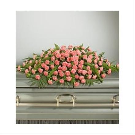 Pink Carnation Closed Casket Spray Casket Sprays Flowers