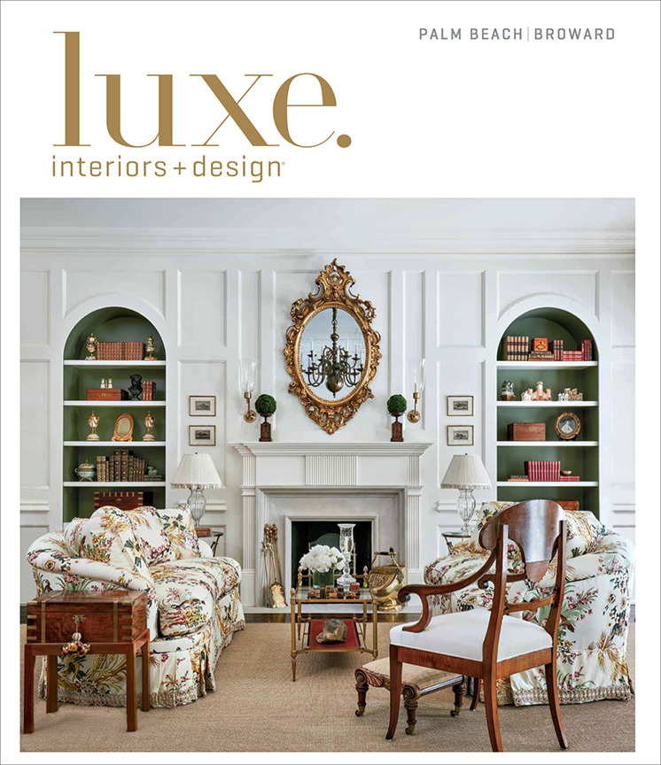 palm beach interior design cover feature - brantley photography