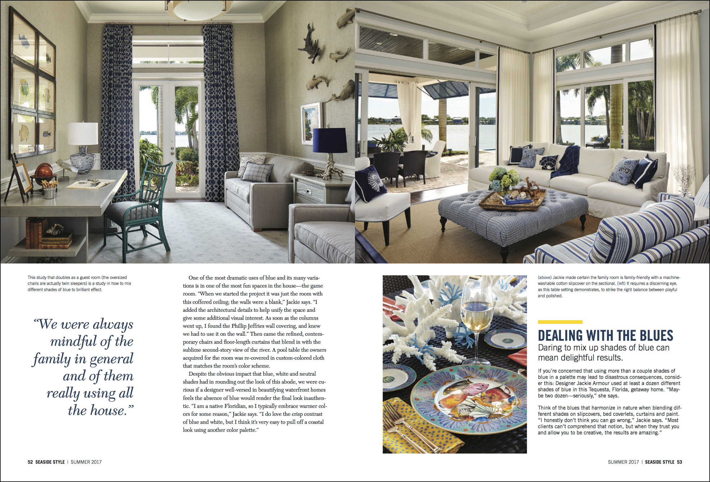 Seaside Style Interior Design Magazine - Tequesta, Palm Beach County, FL
