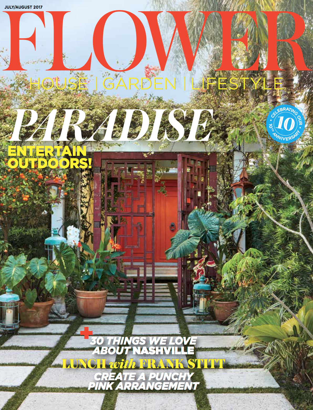 flower magazine cover photography feature - brantley photography