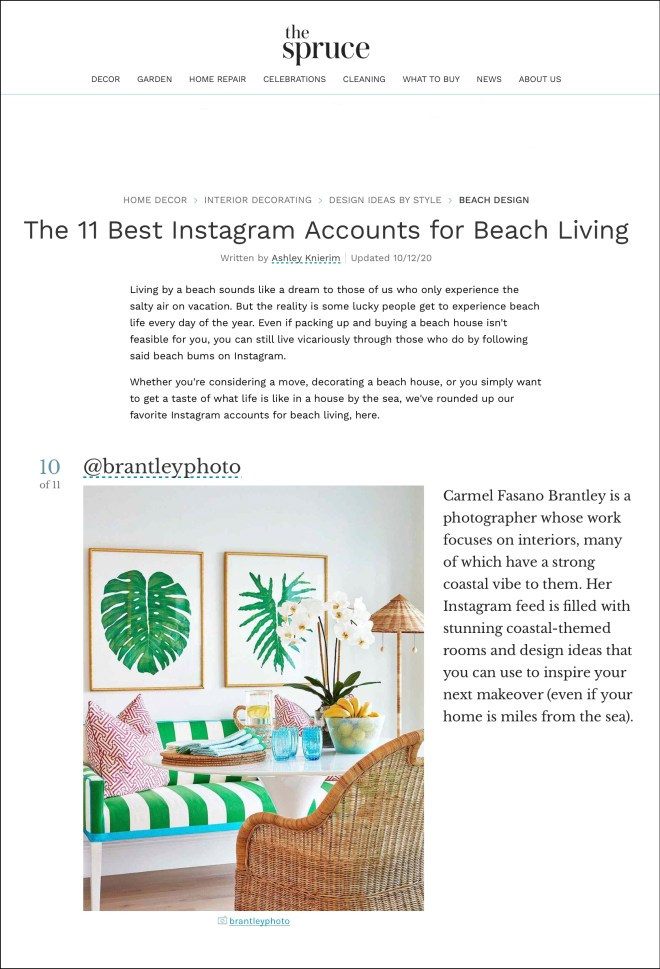 The Spruce Instagram Guide