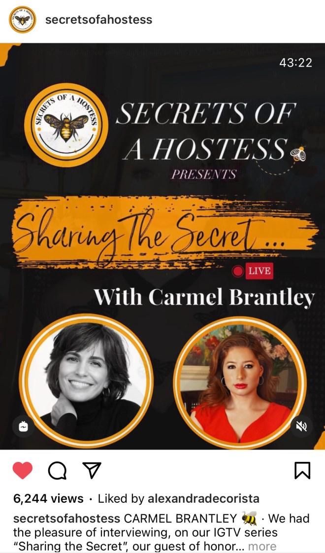 Secrets of a Hostess Live Interview