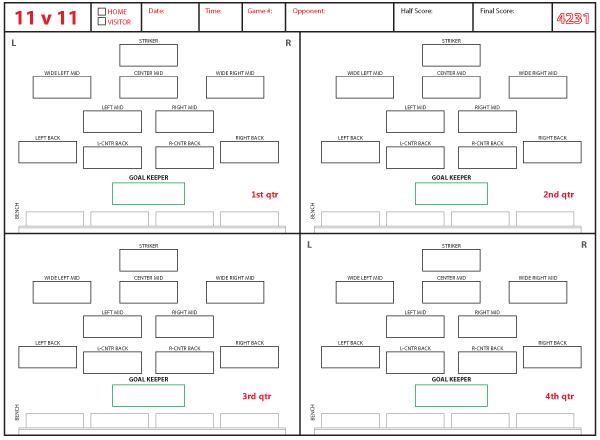 Formation 4 Printable Soccer 2 3 1