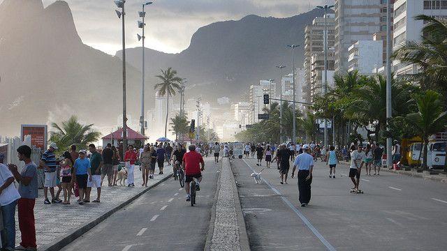 Paseo marítimo de Ipanema, en Rio de Janeiro. Foto: Gwenael Piaser