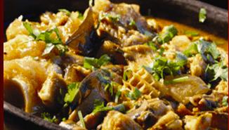Especialidades da culinária no restaurante Colher de Pau