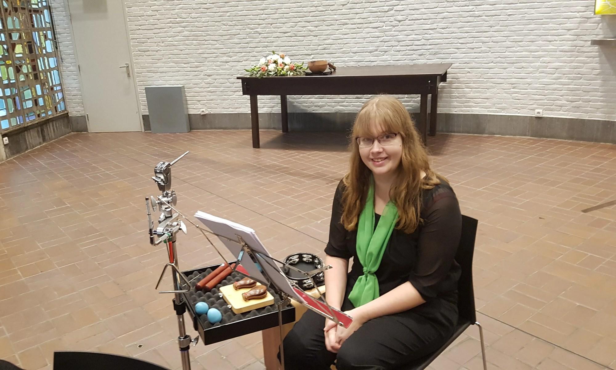 Jolien Budts, percussie Brasschaats Mandoline-Orkest