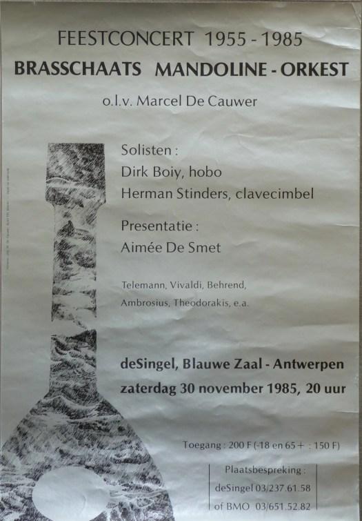 Affiche jubileumconcert 1985 (30 jaar BMO)