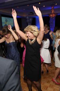 dancing at corporate fundraiser