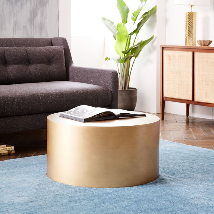 West Elm metal-drum-coffee-table-o
