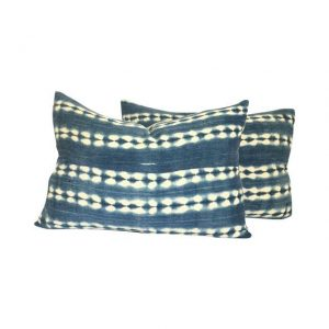 African Indigo Lumbar Pillows, $480