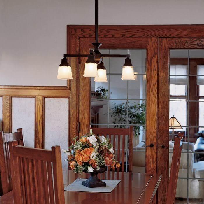 craftsman style chandeliers craftsman