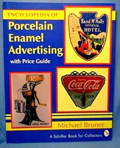 bruner bookcover porcelain Enamel Advertising