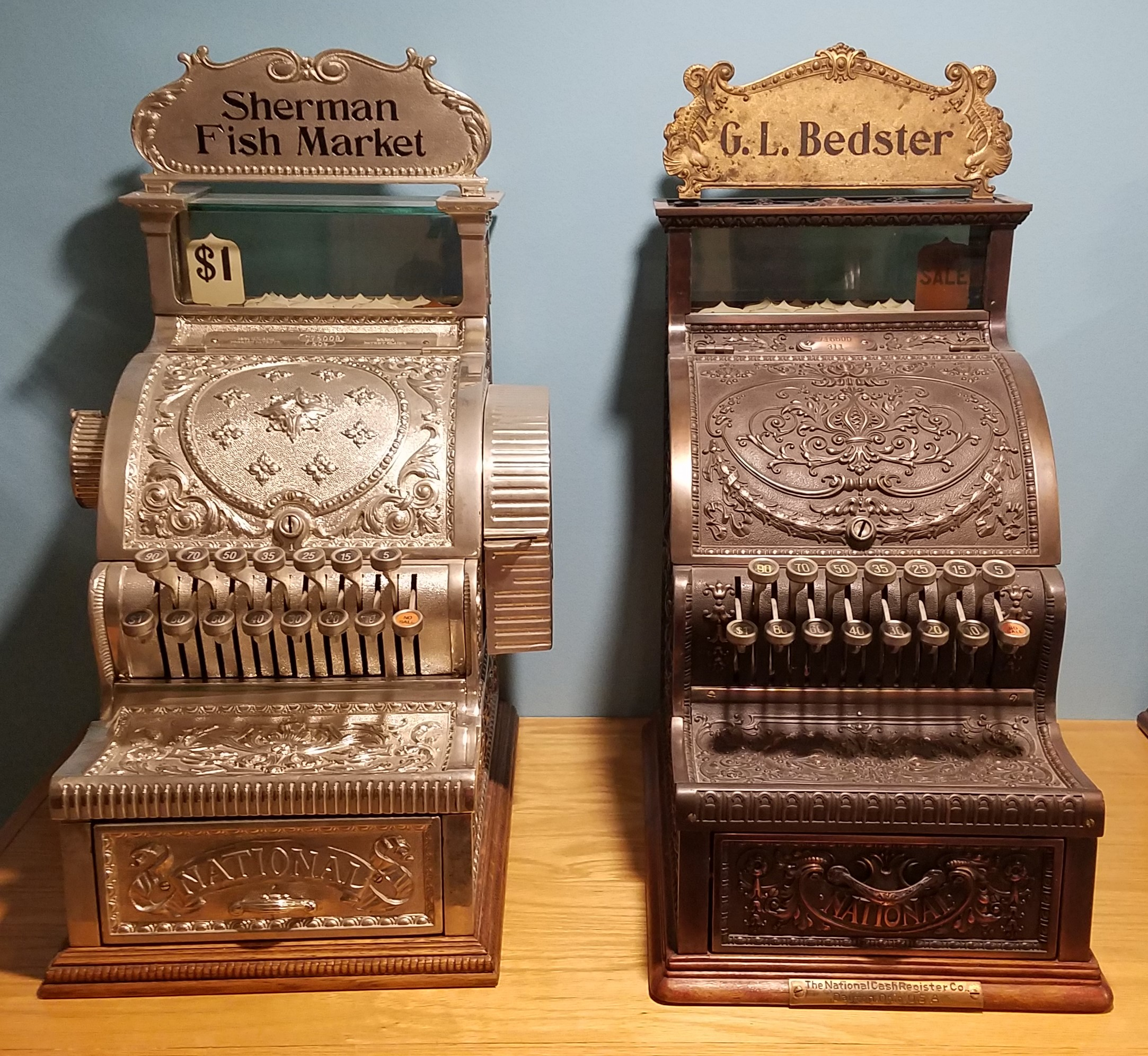 Antique Brass Cash Registers