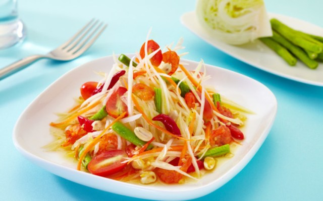 Recipe papaya salad som tam thai cooking class brasswok papaya salad som tam thai forumfinder Choice Image