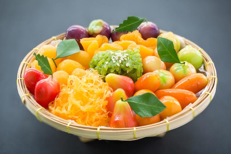 Luk Chup – mung bean sweets