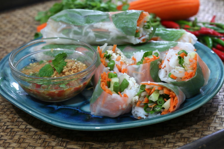 Recipe Fresh Spring Rolls, Thai Cooking Class | BrassWok.com