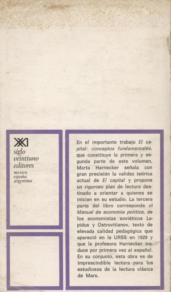 El capital: conceptos fundamentales - Marta Harnecker + Lapidus y Ostrovitianov