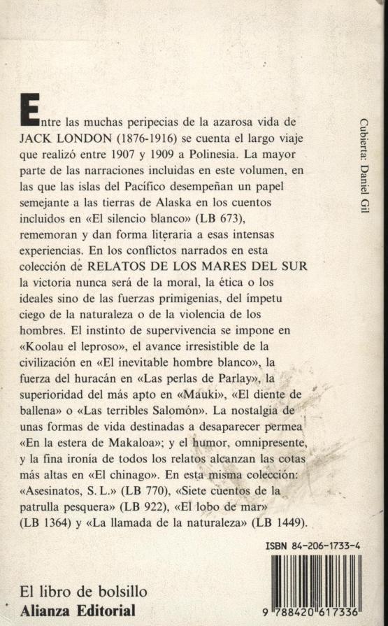 Relatos de los mares del sur - Jack London a bratac.cat