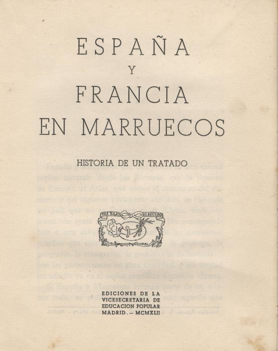 España y Francia en Marruecos
