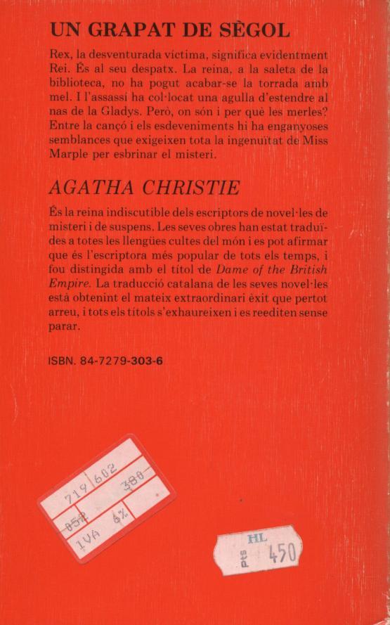 Un grapat de sègol - Agatha Christie