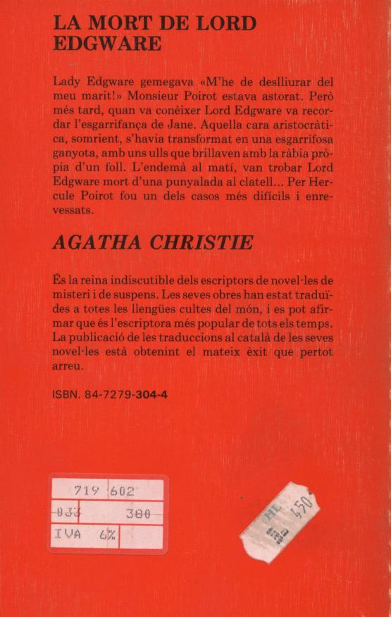 La mort de Lord Edgware - Agatha Christie