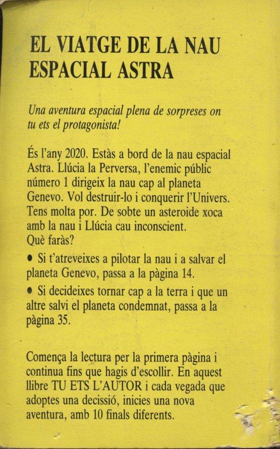 Venta online de libros de ocasión como El viatge de la nau espacial Astra en bratac.cat