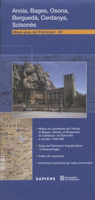 Venda online de Mapa-Guia del patrimoni: Anoia, Bages, Osona, Berguedà, Cerdanya, Solsonès d'ocasió a bratac.cat